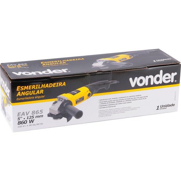 """Esmerilhadeira angular 5"""" EAV865 220V VONDER"""
