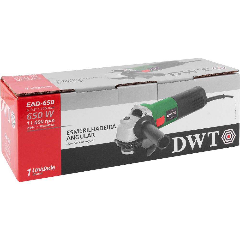 "Esmerilhadeira Angular 650W 4.1/2"" EAD650 220V DWT"