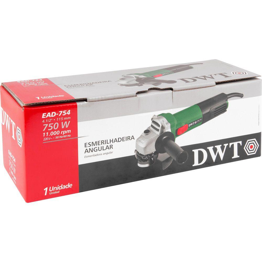 "Esmerilhadeira Angular 750W 4.1/2"" EAD754 220V DWT"