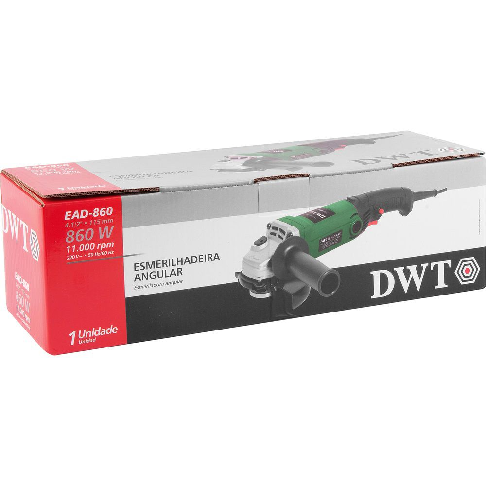 "Esmerilhadeira Angular 860W 4.1/2"" EAD860 220V DWT"