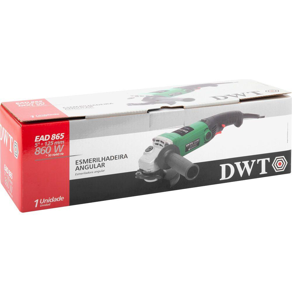 "Esmerilhadeira Angular 860W 5"" EAD865 220V DWT"