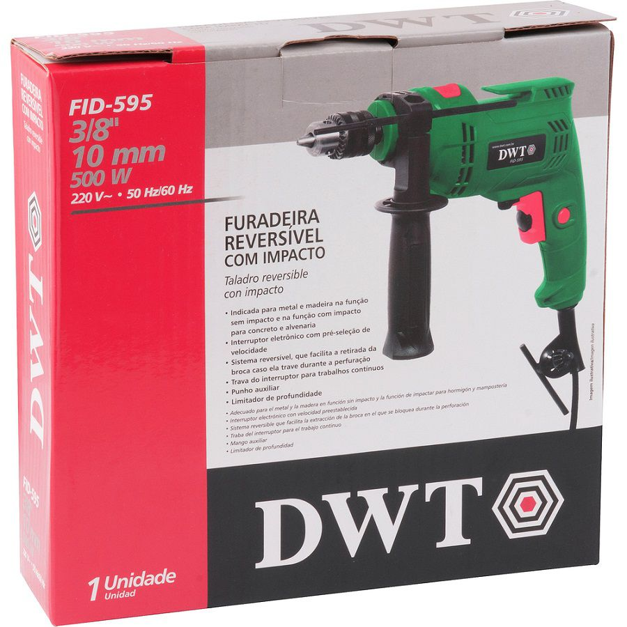 Furadeira Com Impacto 3/8 500w 220v FID595 -DWT
