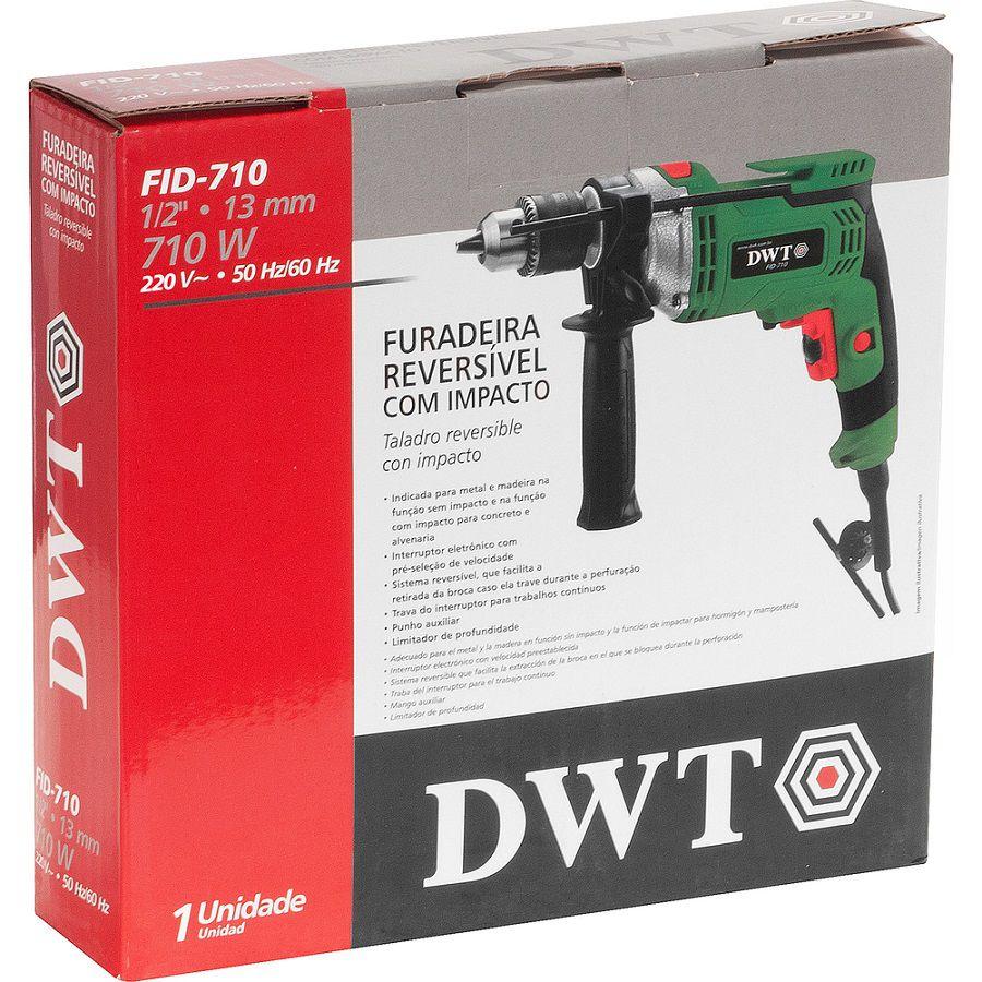"""Furadeira com Impacto FID 710 • 710 W • 1/2"""" 220v -DWT"""