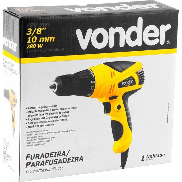 Furadeira Parafusadeira Elétrica 3/8 280w - Vonder