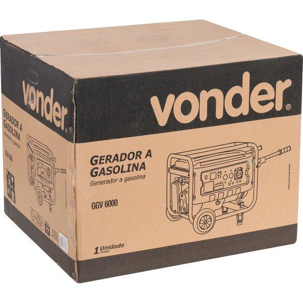 Gerador a gasolina 6000W GGV 6000 VONDER