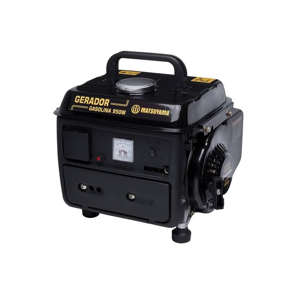 Gerador de Energia a Gasolina Partida Manual 950w - Matsuyama
