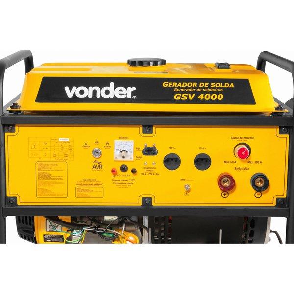 Gerador de solda GSV 4000 4000W 190A VONDER