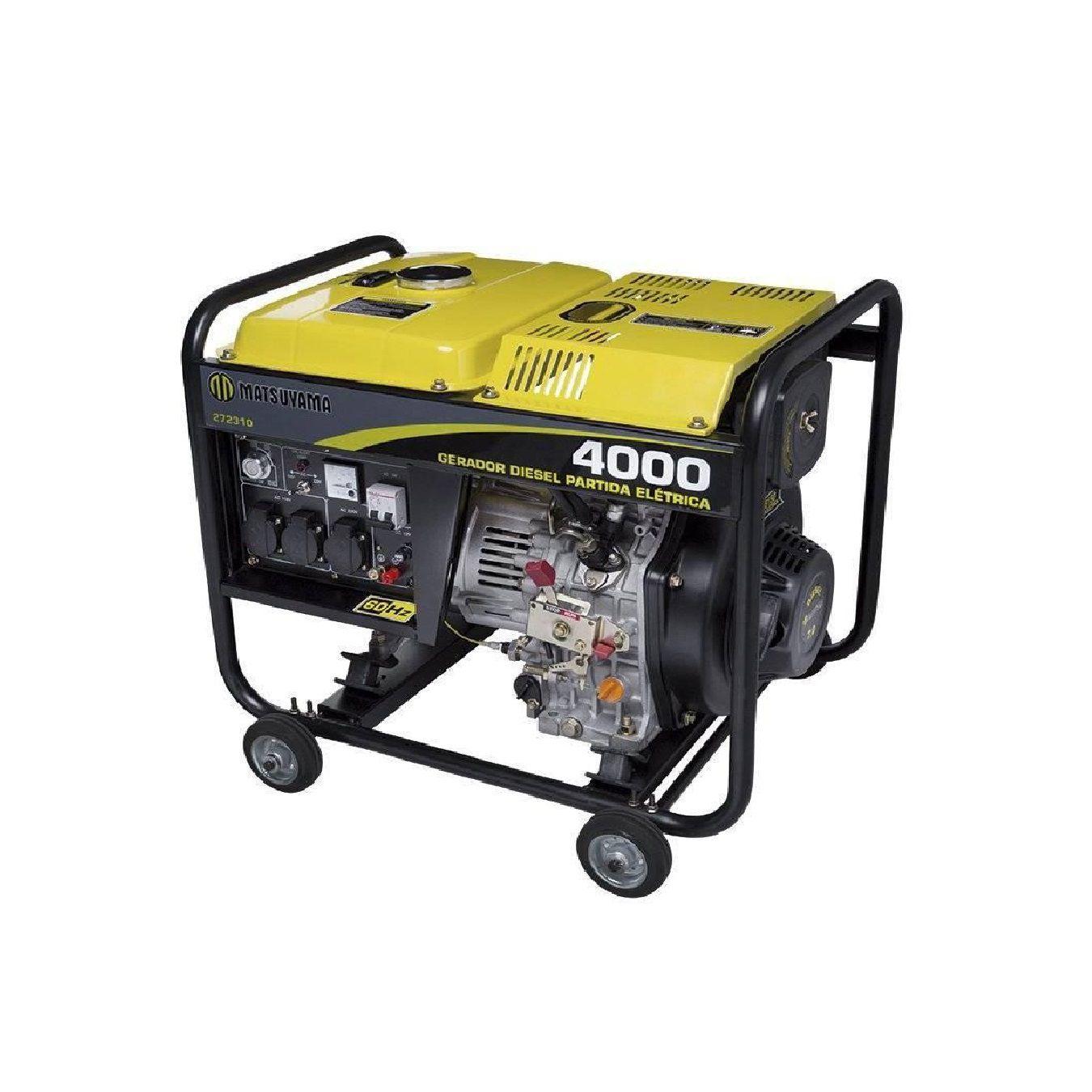Gerador Diesel 4000 127/220 V 3Kva | MATSUYAMA