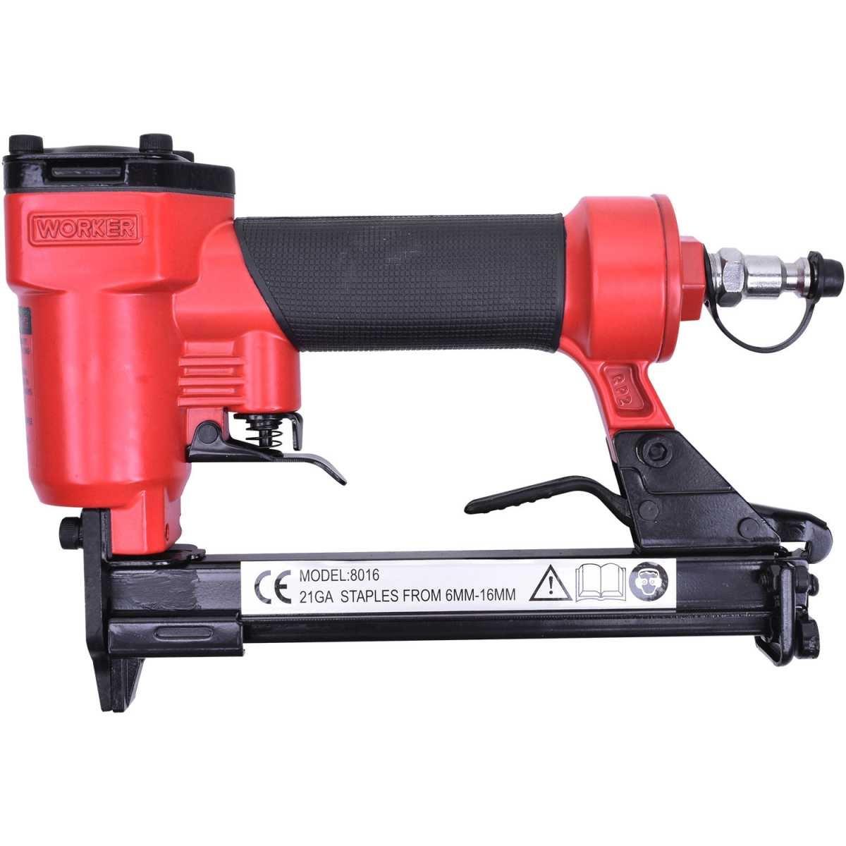 Grampeador Pneumático Worker 6 A 16mm 120 Grampos