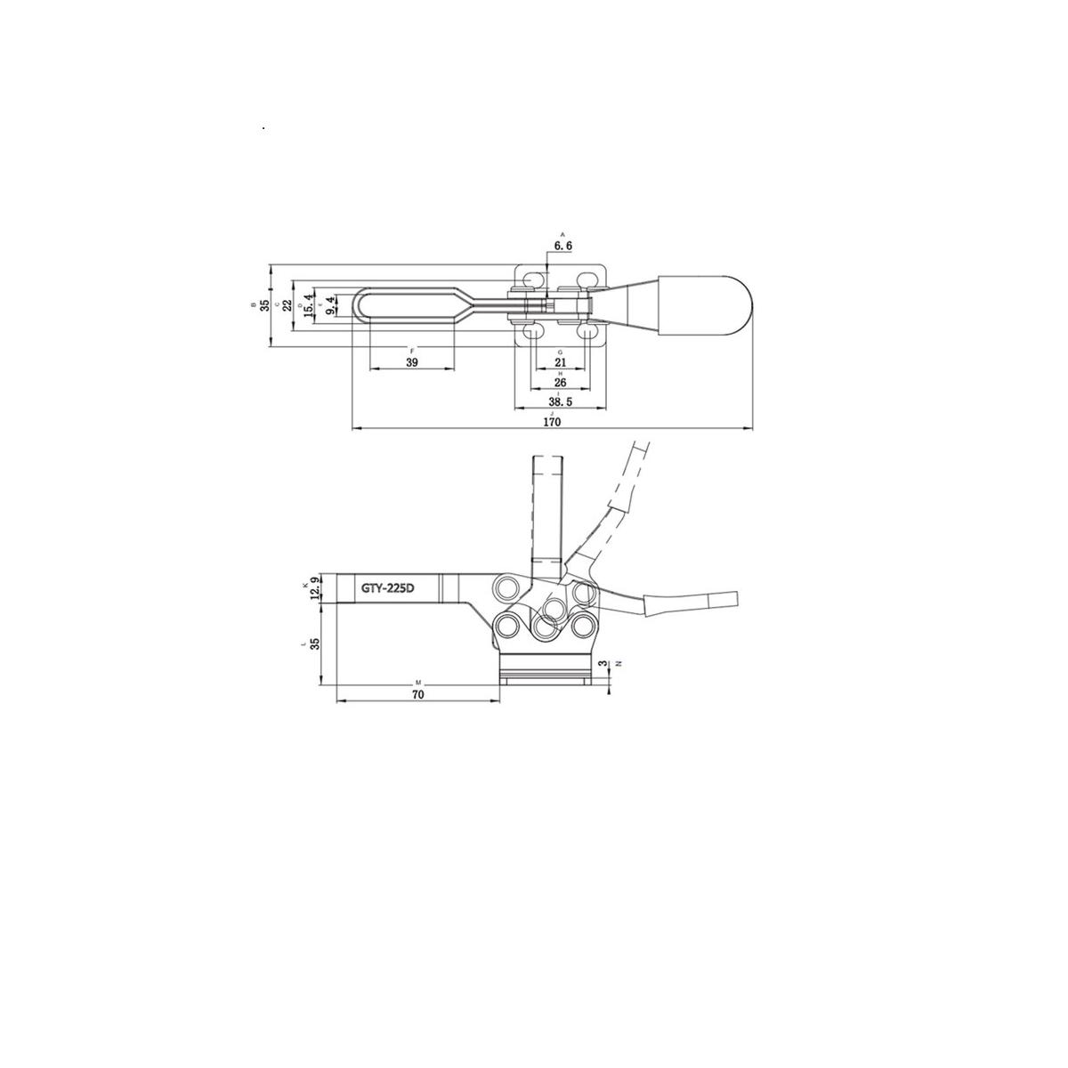 Grampo de aperto rápido horizontal GHV 225 VONDER