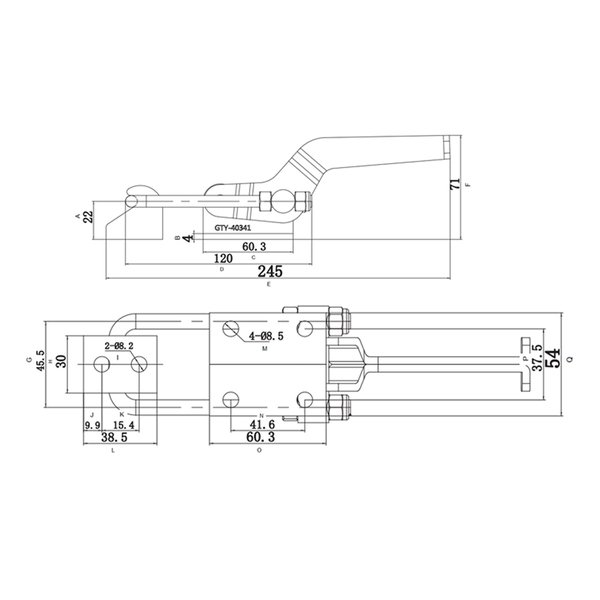 Grampo de aperto rápido tipo tensor GTV 880 VONDER