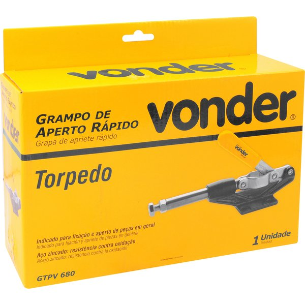 Grampo de aperto rápido torpedo GTPV 680 VONDER