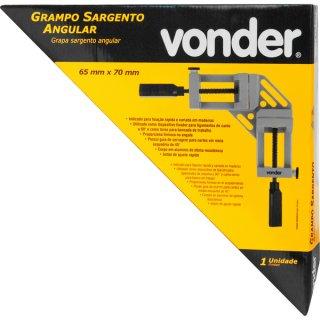 Grampo tipo sargento angular 65mm x 70mm VONDER