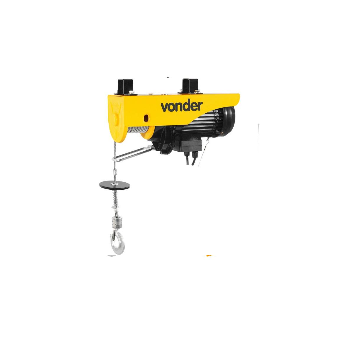 Guincho elétrico para 0,3 tonelada(0,3 tf)/0,6 tonelada(0,6 tf) GEV 600 220V VONDER