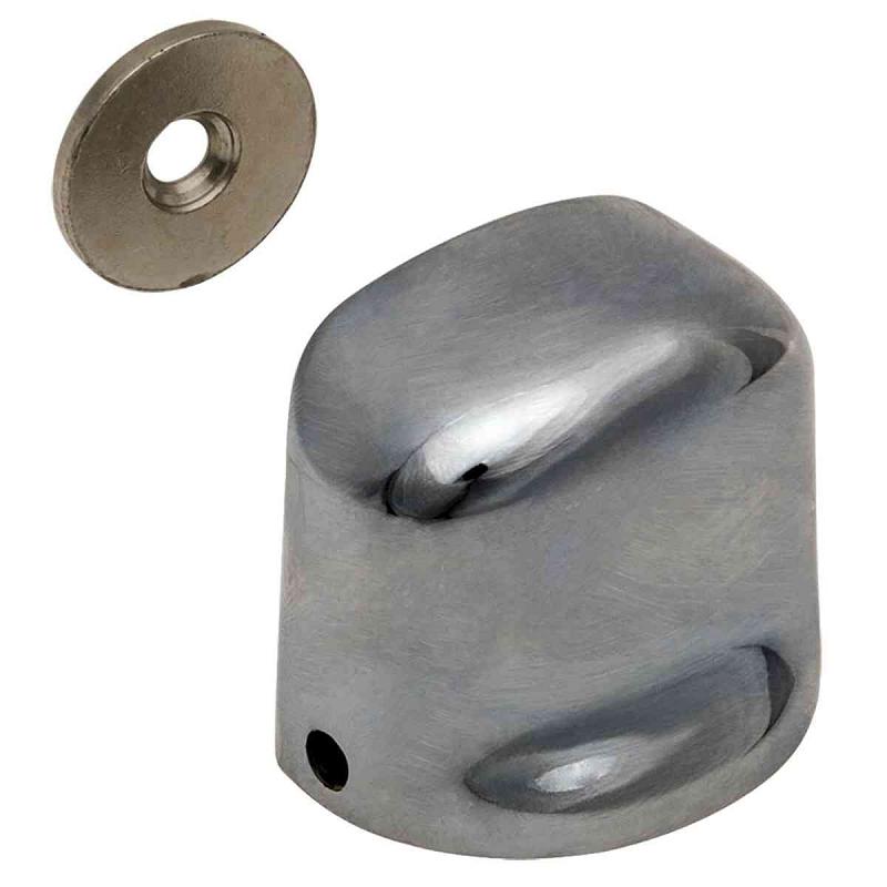 Kit 6 Fixador Porta Magnético Cromado Kala