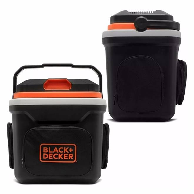 Kit Carregador saida 12v e MiniGeladeira 24 litros Black decker