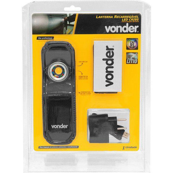 Lanterna recarregável de inspeção, 5W LED CRI 95 -Vonder