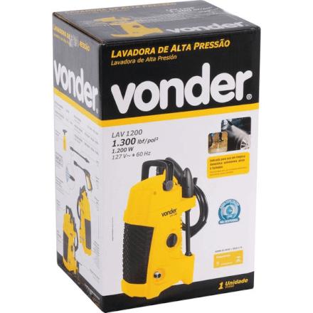 Lavadora de alta pressão LAV 1200, 1300 libras, 127 V~ VONDER