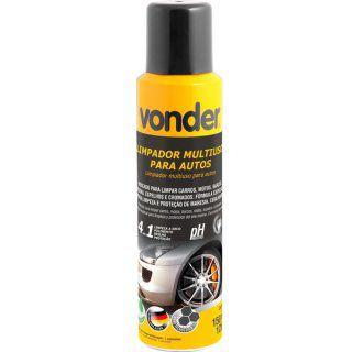 Limpador multiuso para autos aerossol 4 em 1 biodegradável 150 ml VONDER