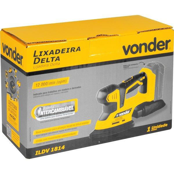 Lixadeira delta bateria intercambiável de 18V sem bateria e sem carregador ILDV 1814 VONDER