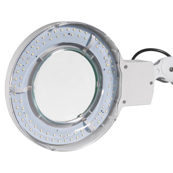 Lupa articulada com LED bivolt com fixador para bancada VONDER