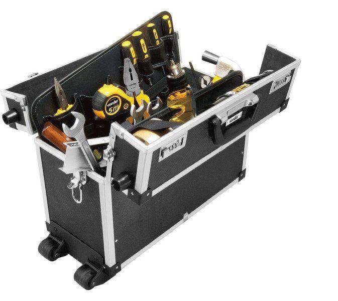 Maleta para ferramentas profissional preta MFV 961 VONDER