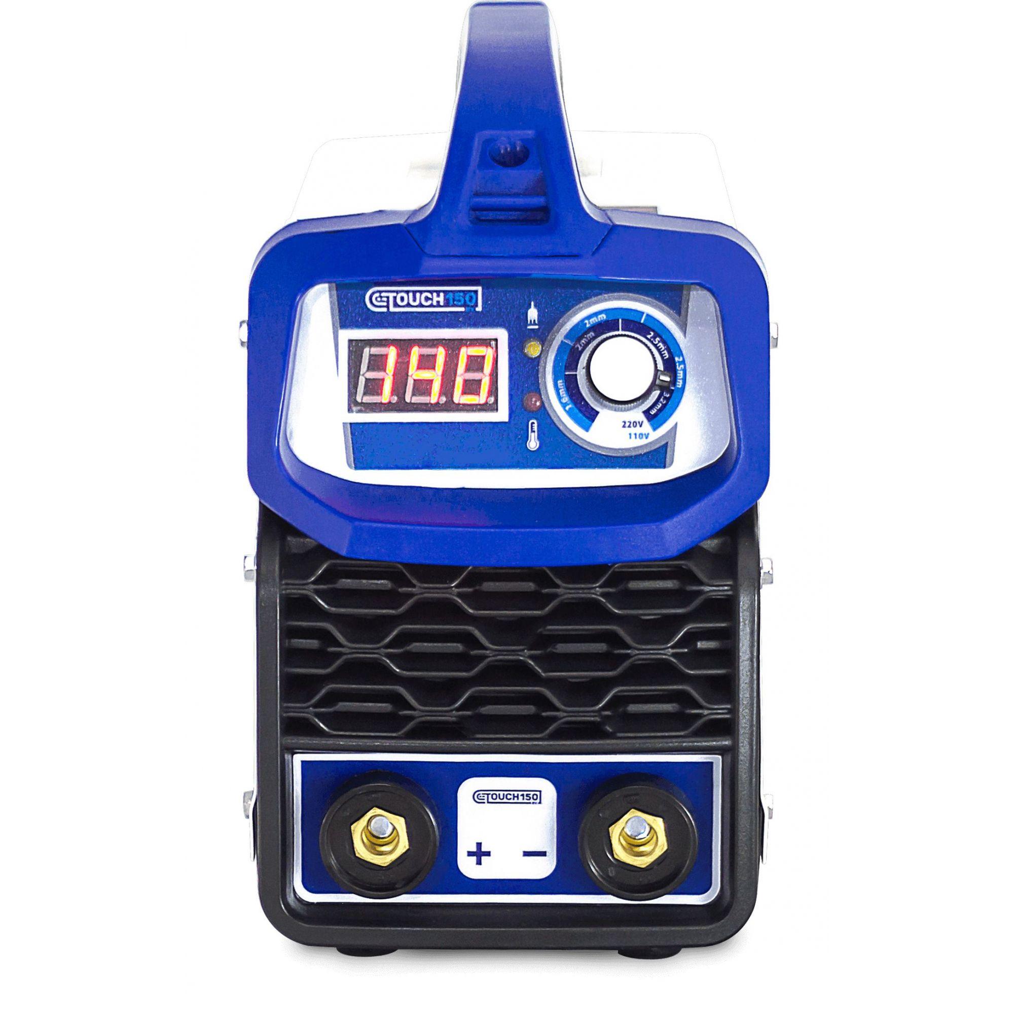 Maquina de Solda 140A Touch 150BV Bivolt Mascara Solda Eletrodo 6013