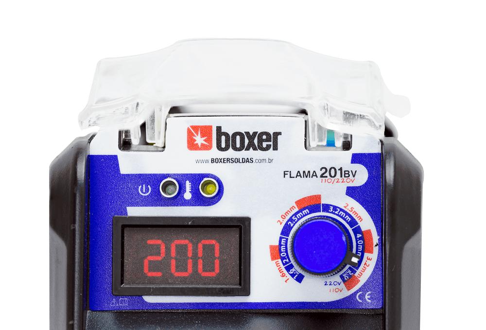 Maquina de Solda 200A FLAMA 201BV Bivolt Boxer