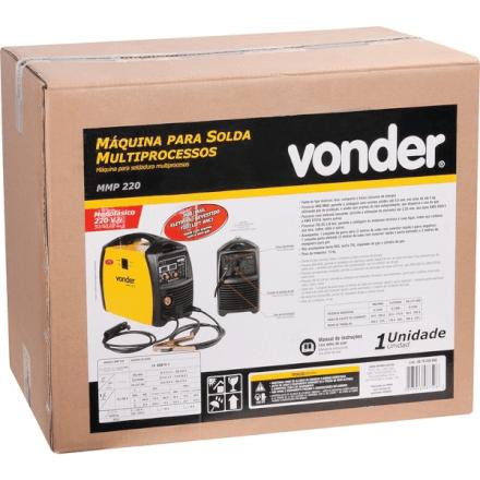 Máquina de Solda Multiprocessos MMP 220 200A 220V  Vonder