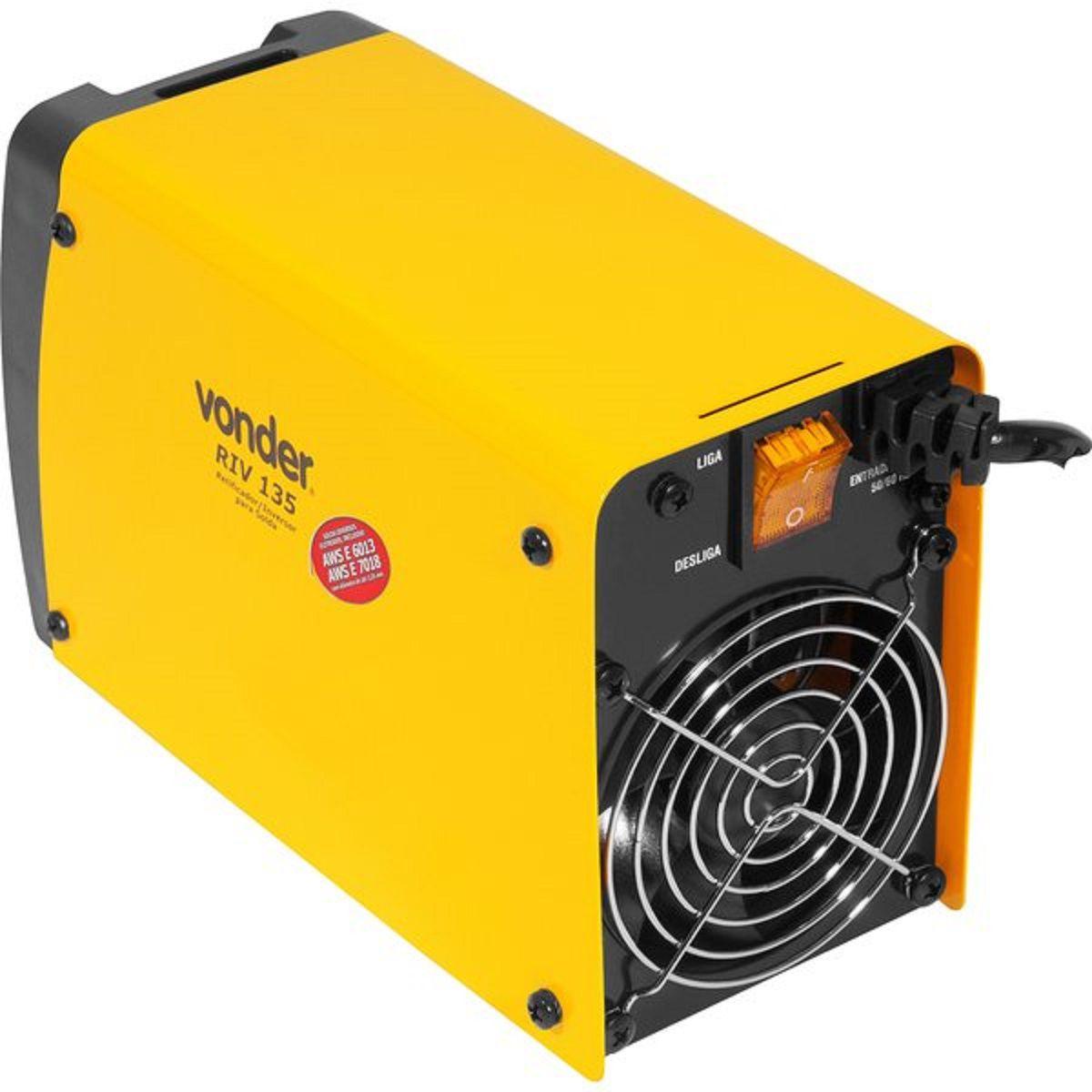 Máquina Retificadora/Inversora de Solda 220v 130A - VONDER-RIV135