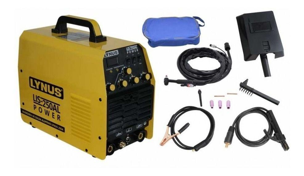 Máquinas Inversora LIS-250AL - Inversora D Solda Alumínio LYNUS 200A