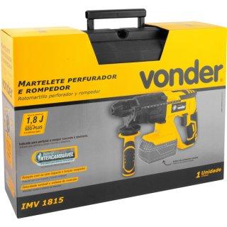 Martelete Perfurador/rompedor bateria intercambiável de 18V sem bateria e sem carregador IMV 1815 Vonder