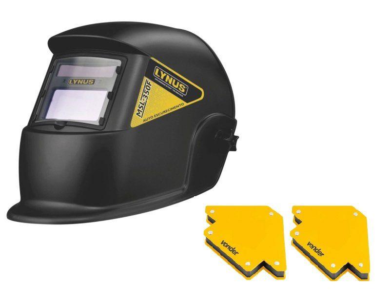 Máscara de Solda Automática MSL-350F - Lynus Com 2 esquadro magnetico 10 kg
