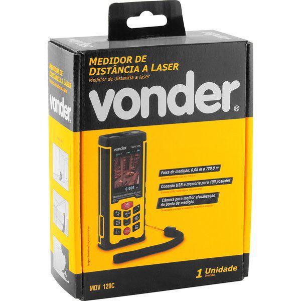 Medidor de Distância a Laser 120m MDV 120C Vonder