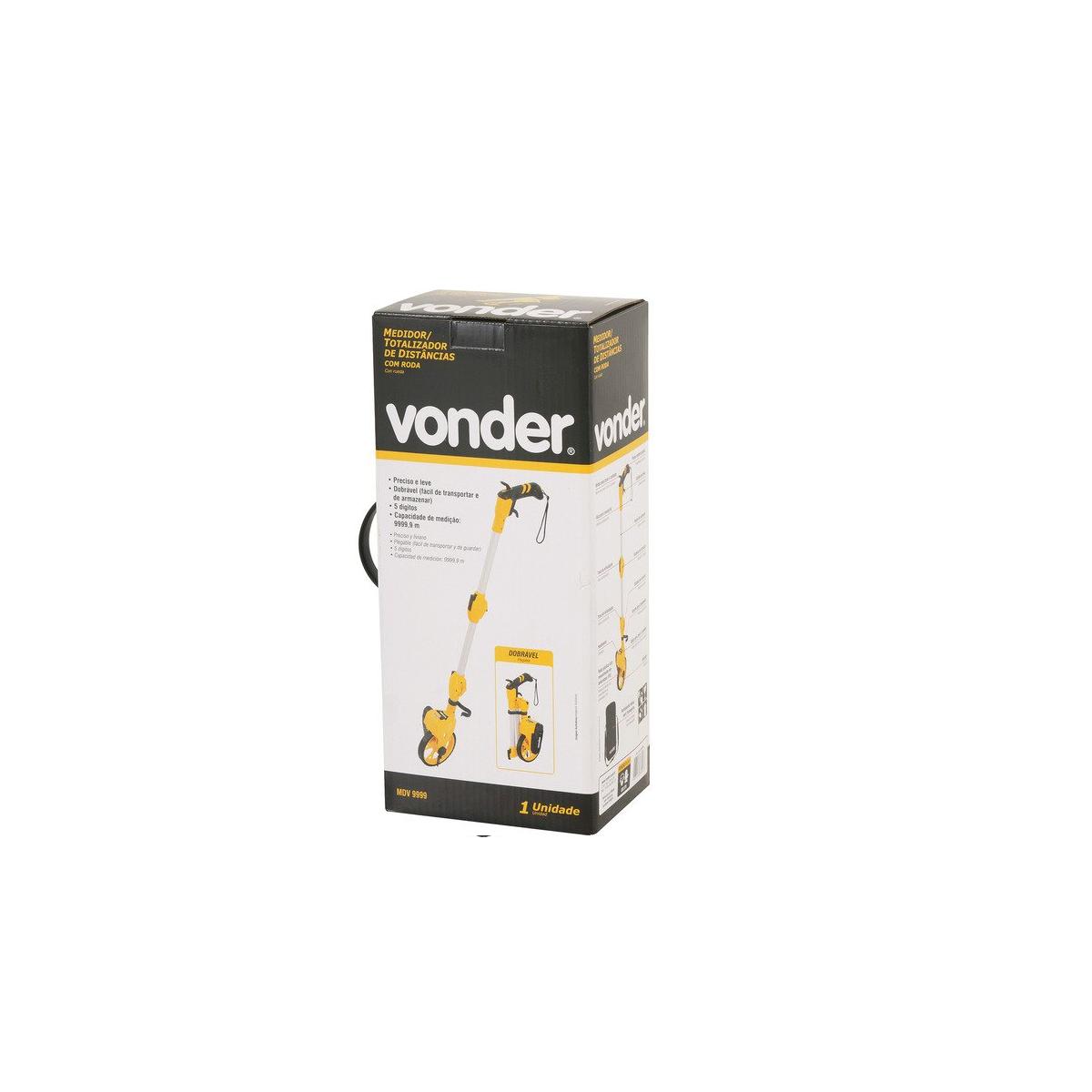 Medidor de distância com roda 5 dígitos VONDER