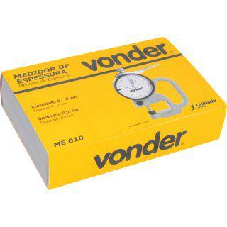 Medidor de espessura 0 a 10 mm ME 010 VONDER