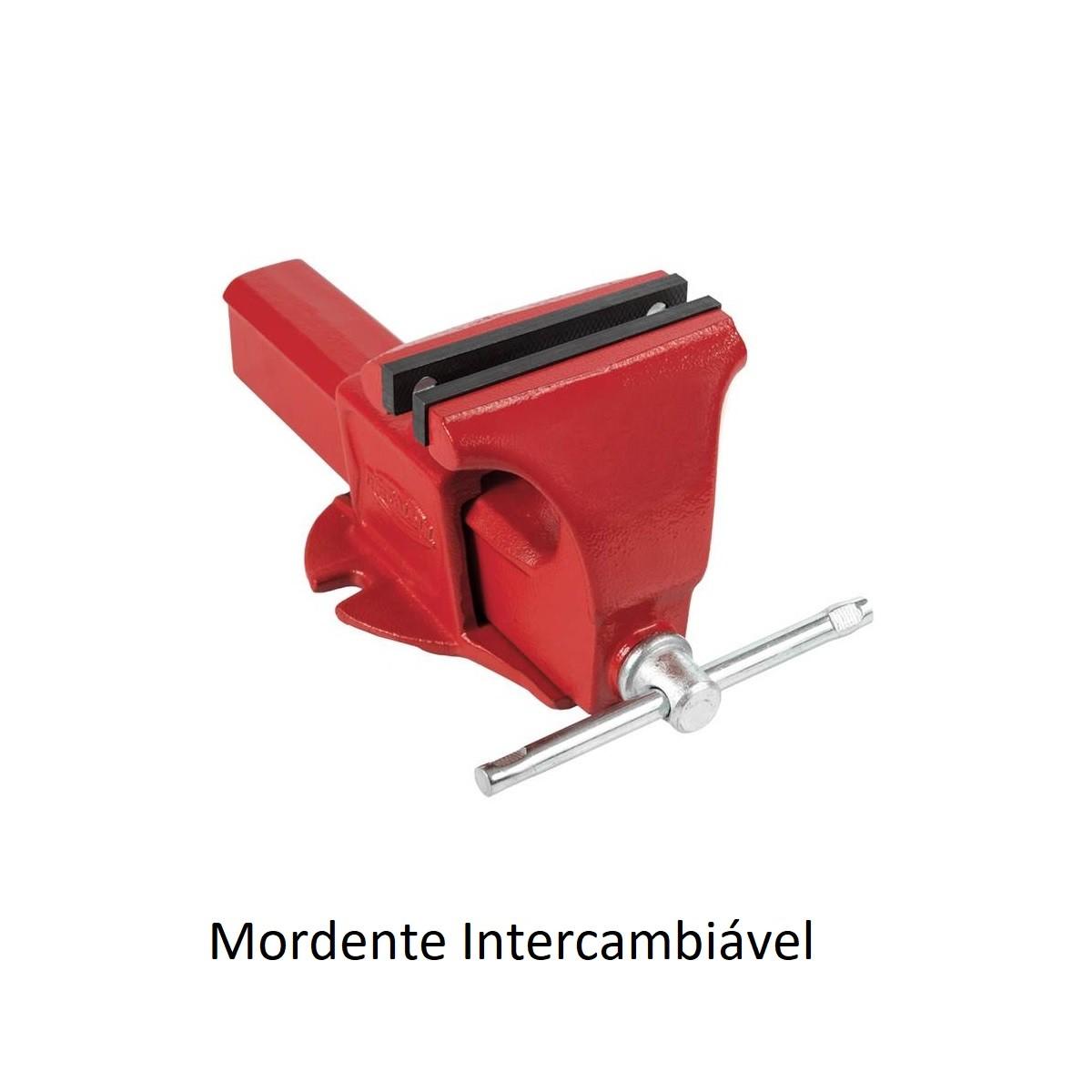 Morsa Torno de Bancada Nr4 Mordente Intercambiável Metalsul