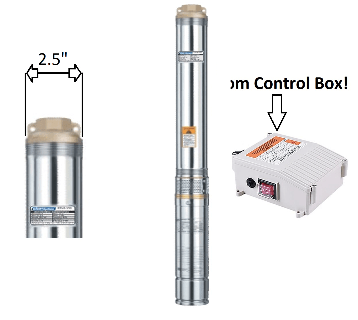 "Motobomba Submersa Caneta 1/2cv 2.5"" ESUB2.5/16 220V Eletroplas"