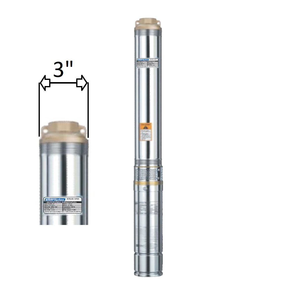 "Motobomba Submersa Caneta 1/3Cv Mono 3"" ESUB-3/6S 220V  Eletroplas"