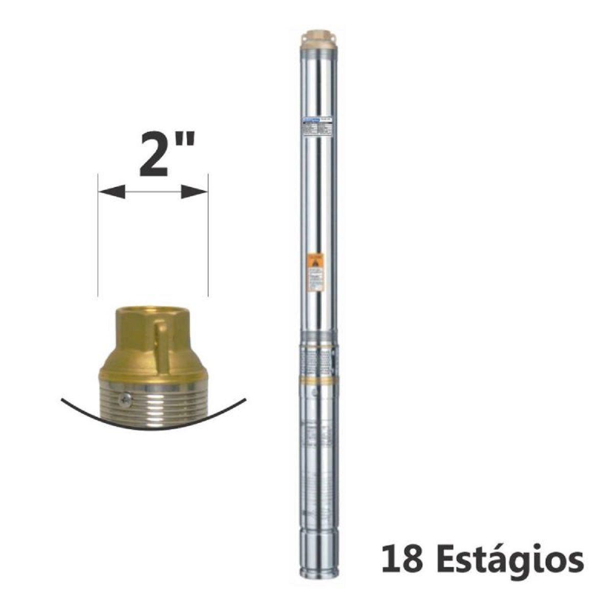 Motobomba Submersa Caneta Inox 1/3Cv Mono 220V ESUB-2/18S Eletroplas