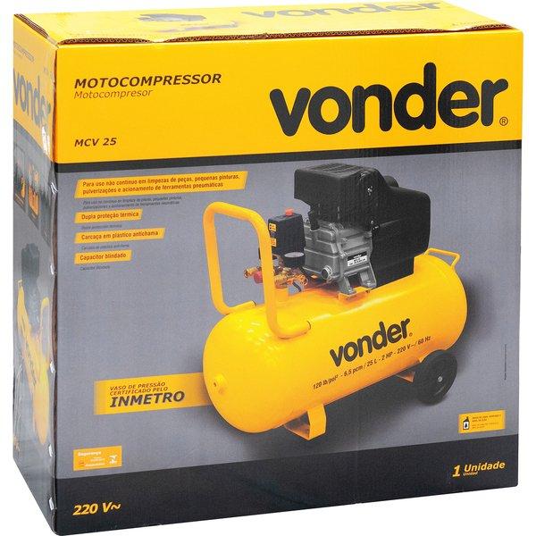 Motocompressor de ar MCV 25 25 litros 220V VONDER
