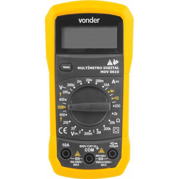 Multímetro digital MDV 0610 VONDER