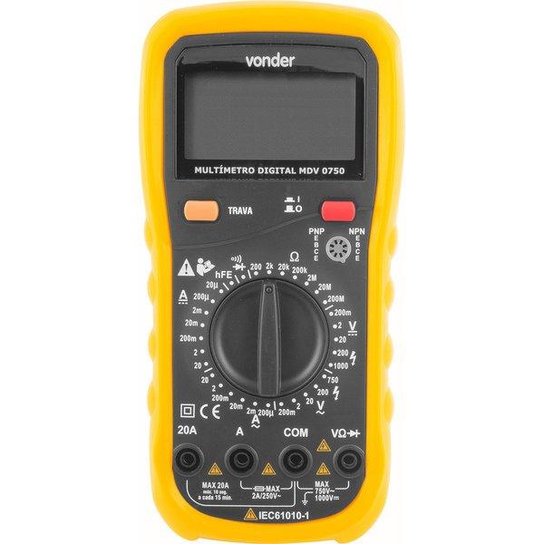 Multímetro digital MDV 0750 VONDER