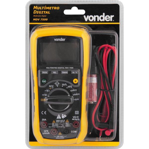 Multímetro digital MDV 7500 VONDER
