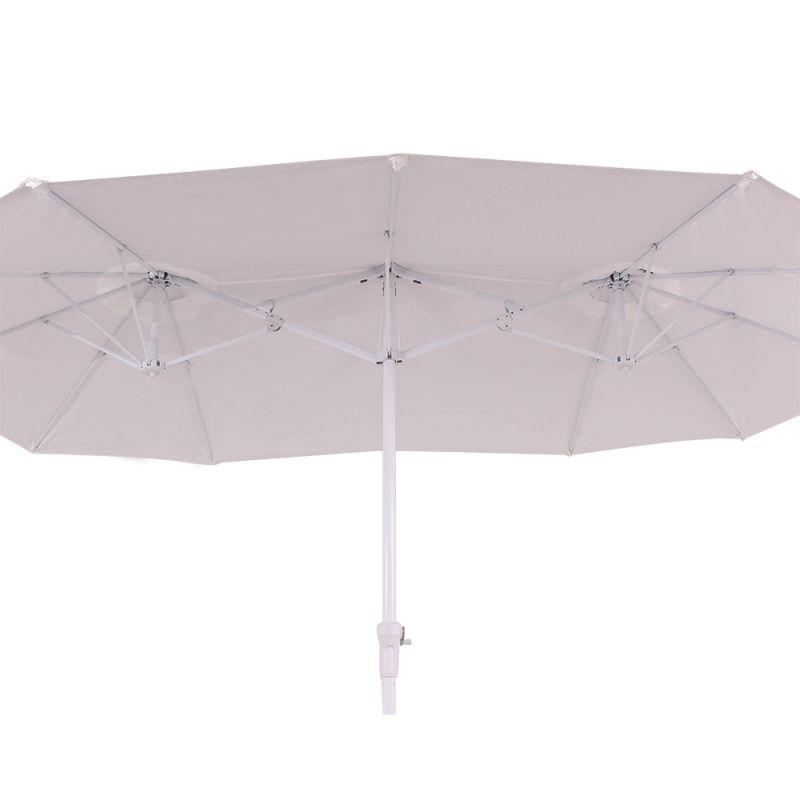 Ombrellone Retangular Oversize 4,50x2,50m Branco BelLazer