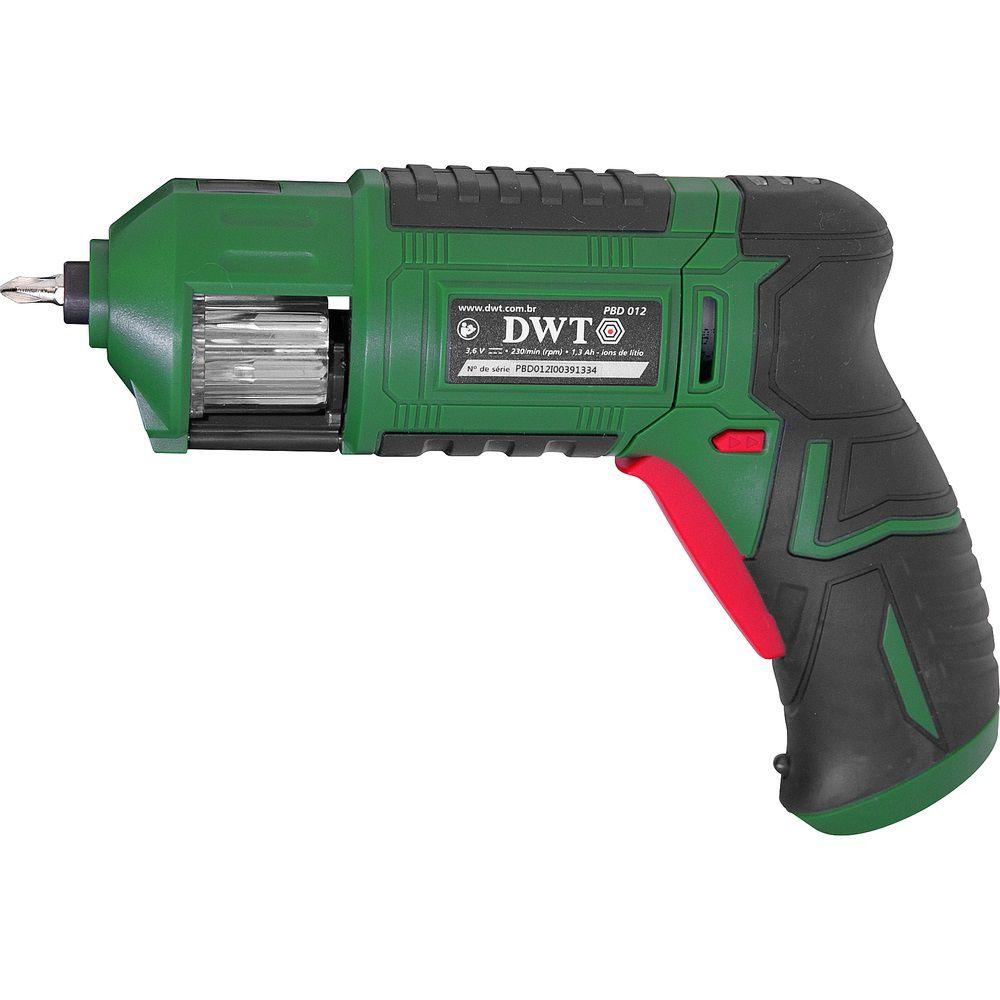 """Parafusadeira A Bateria 3,6V 1/4"""" PBD012 Bivolt DWT"""