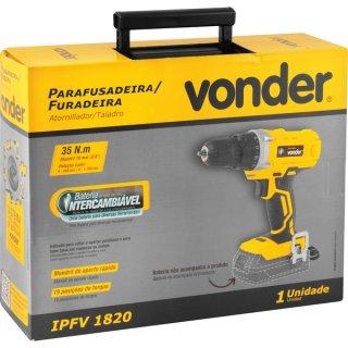 """Parafusadeira furadeira 3/8"""" intercambiável18V s/ bateria e carregador IPFV 1820"""