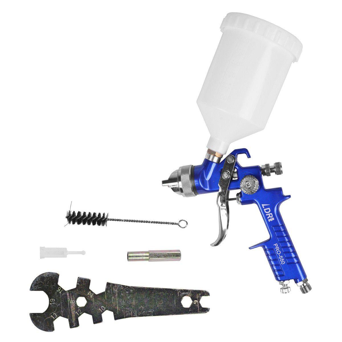 Pistola de Pintura Pro-550 e Lixadeira Roto Orbital