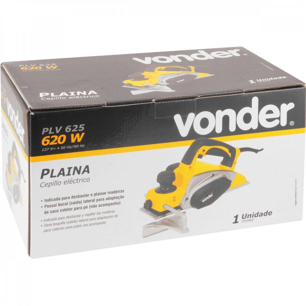 Plaina Elétrica Plv625 Vonder 620w - Vonder
