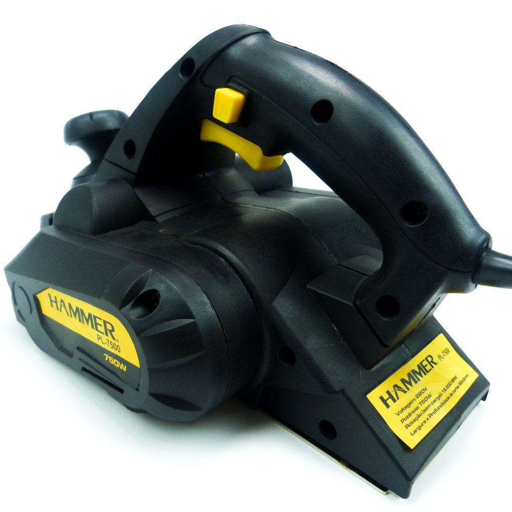 Plaina Elétrica Rolamentada 750w - Hammer